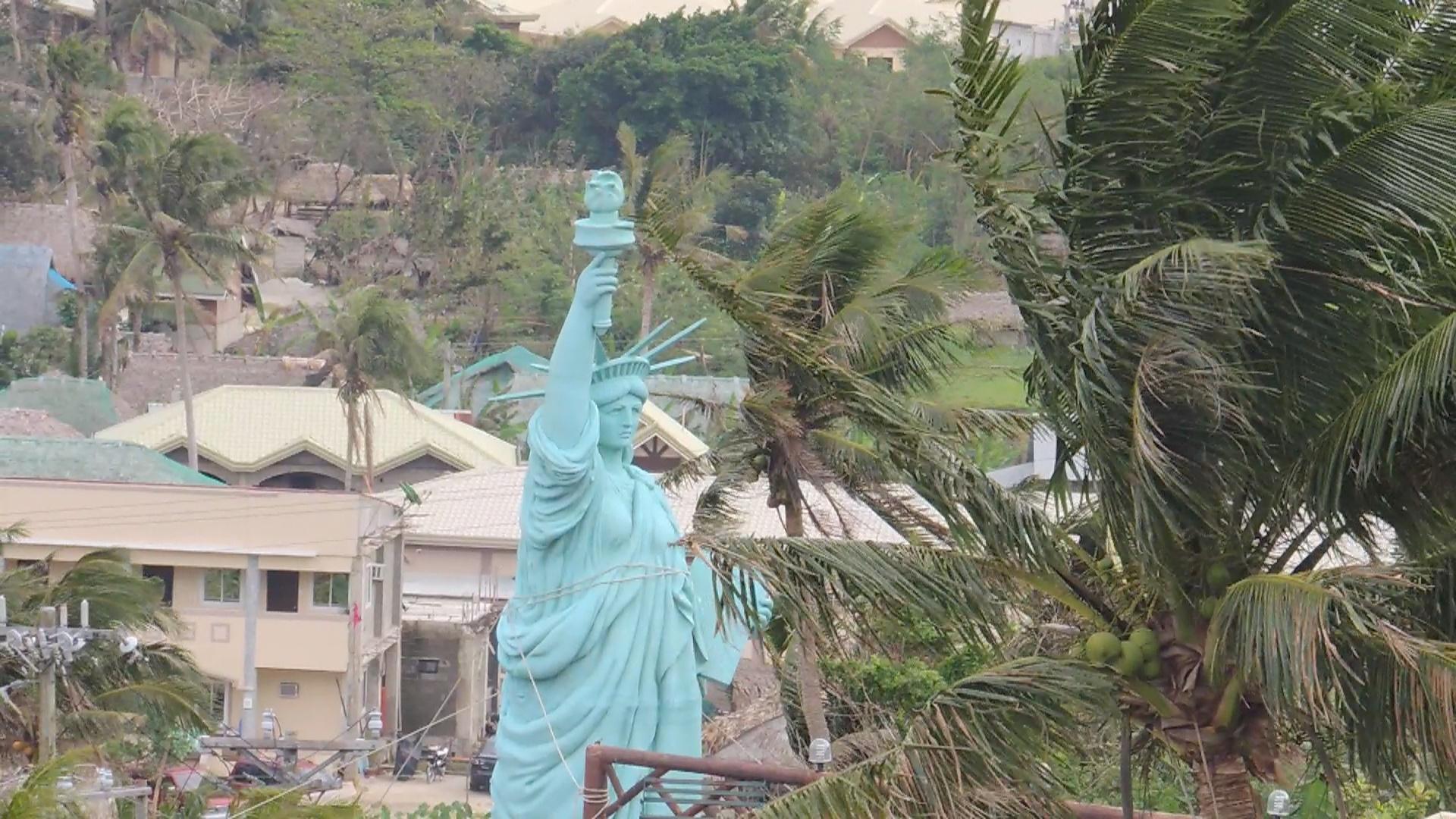 Hannah's resort Ilocos Norte Statue of Liberty