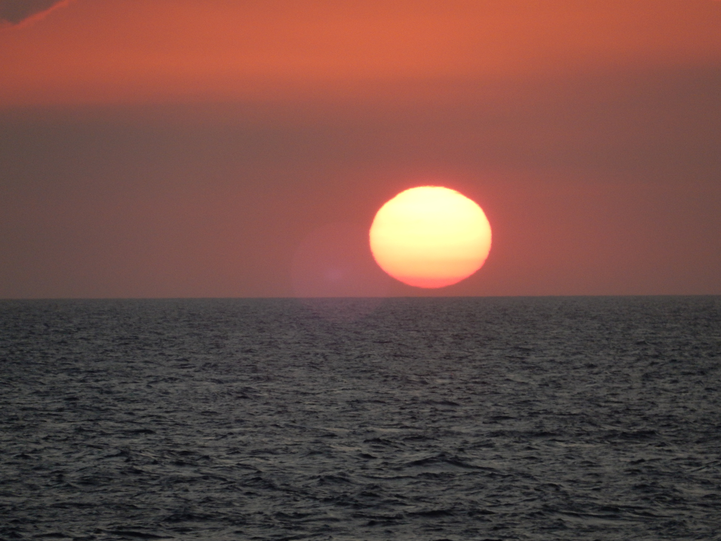 A view of the sunset as you sail for hours 2GO travel