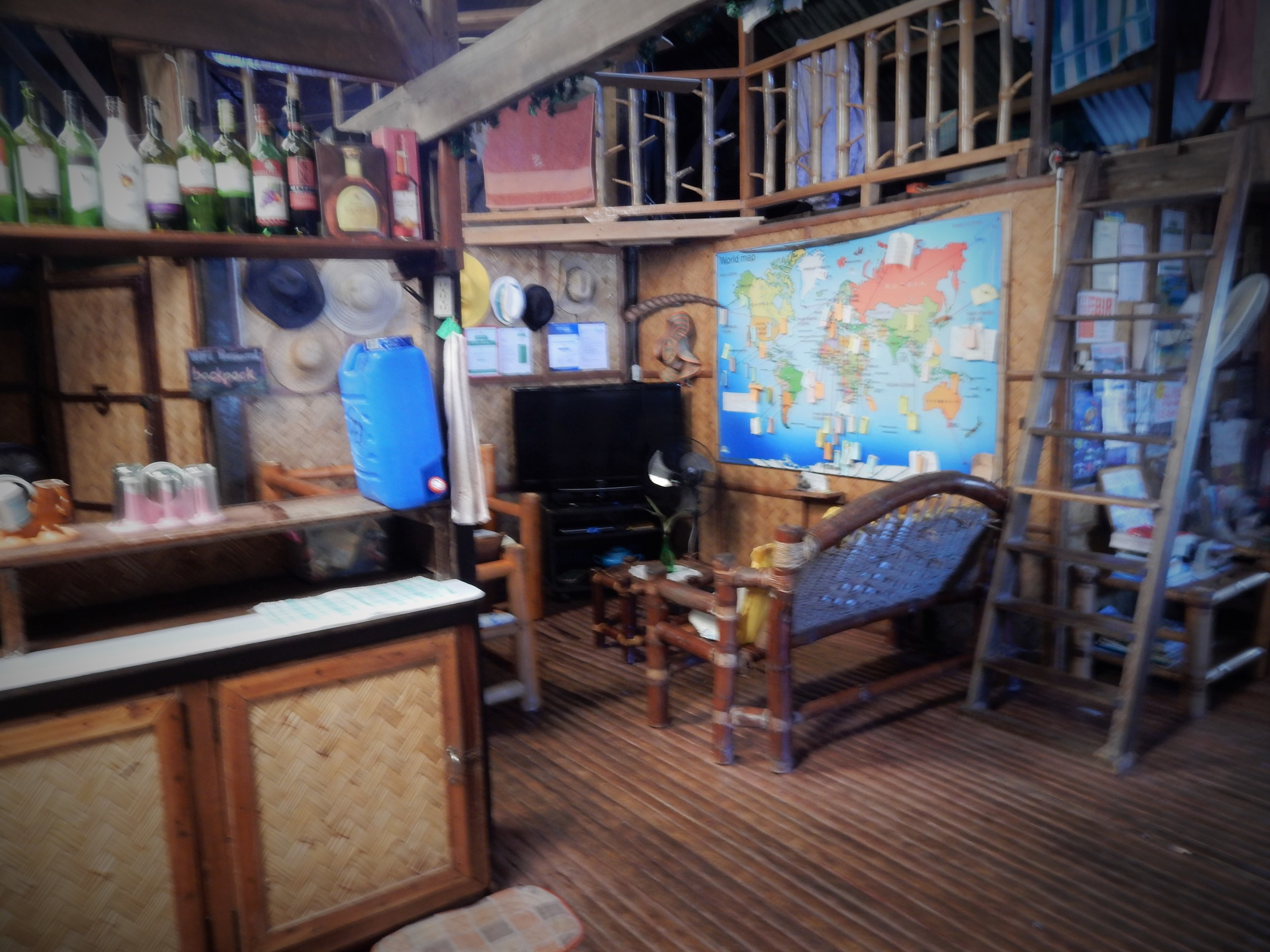 Living room Coron Backpacker Guesthouse