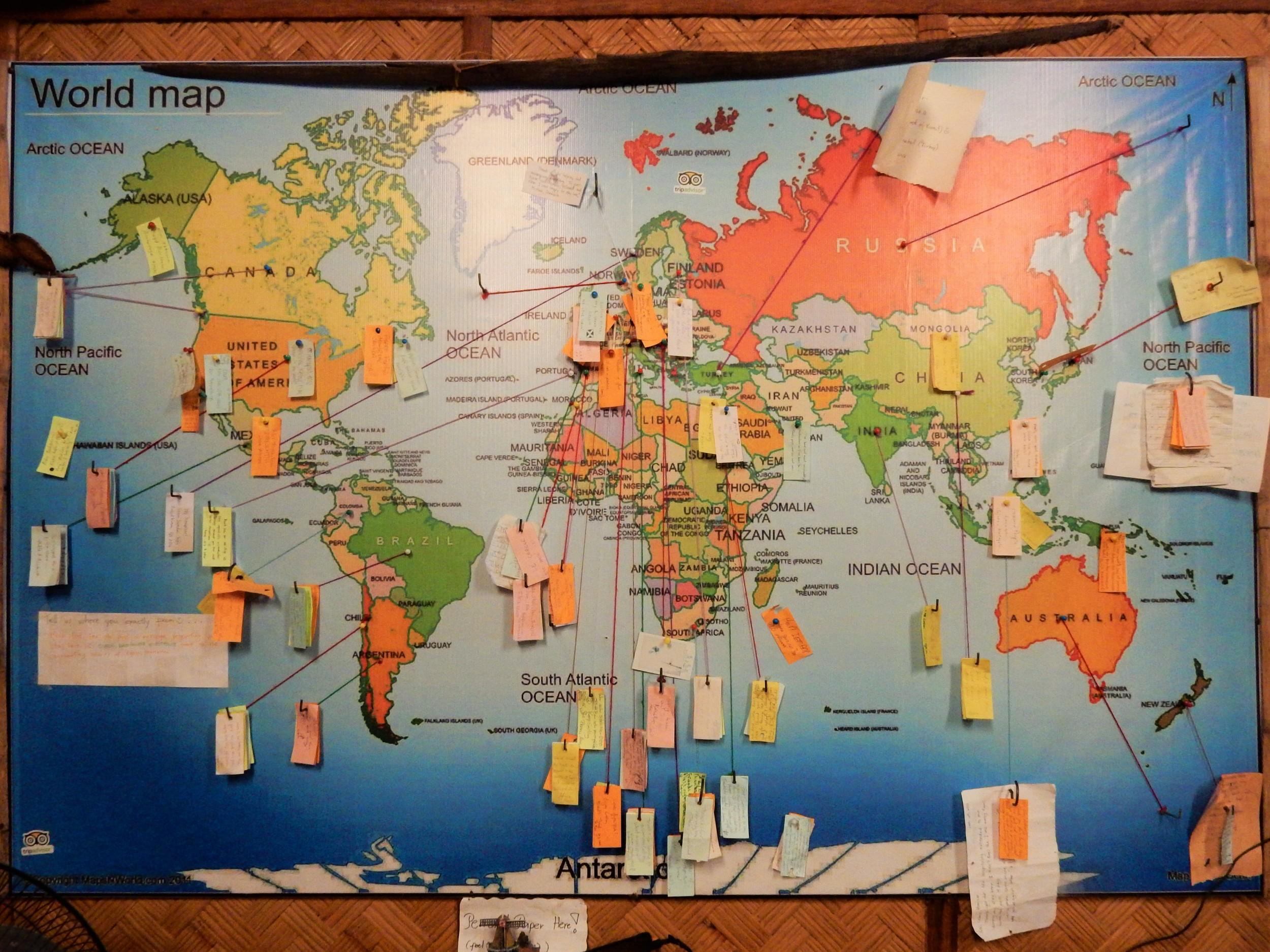 Wolrd Map Coron Backpacker Guesthouse