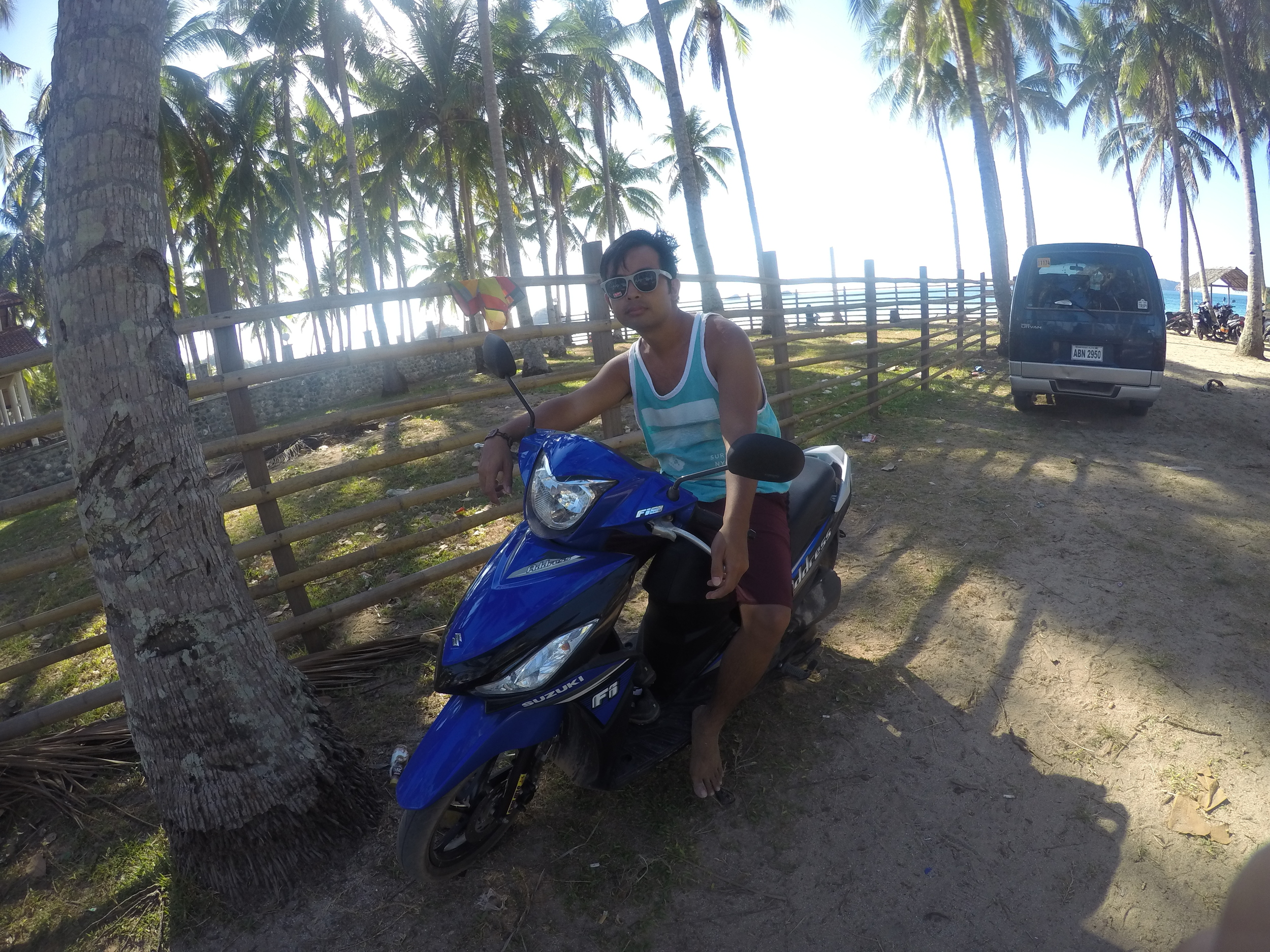 Motorbike in Nacpan Beach