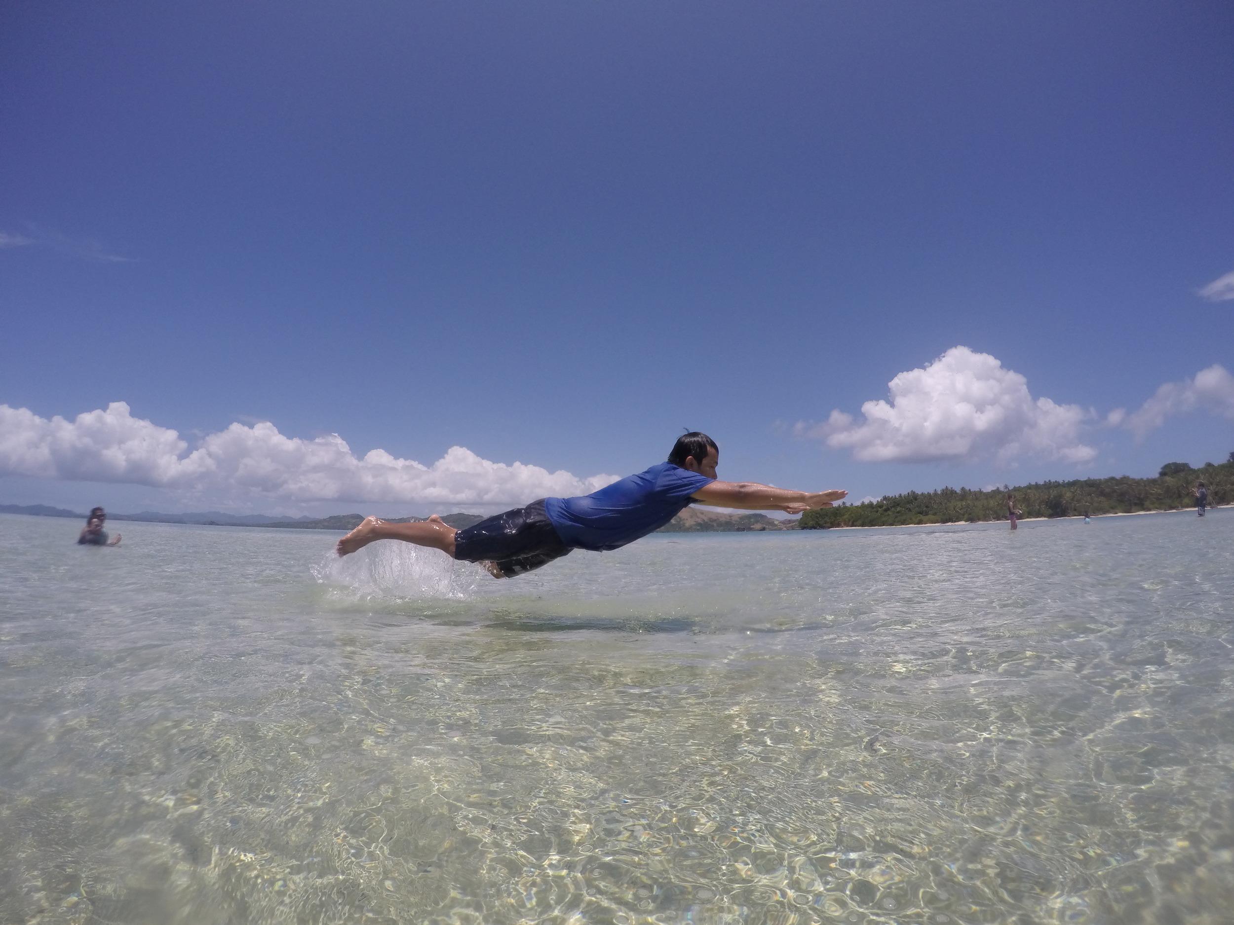 PLAYING AROUND THE WATER