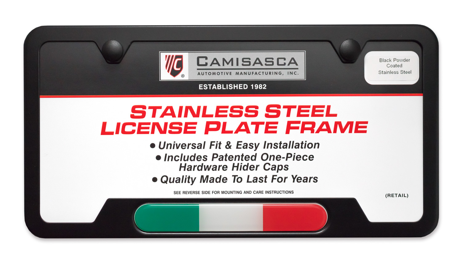 Italian Flag License Plate Frame Camisasca Automotive Online Store