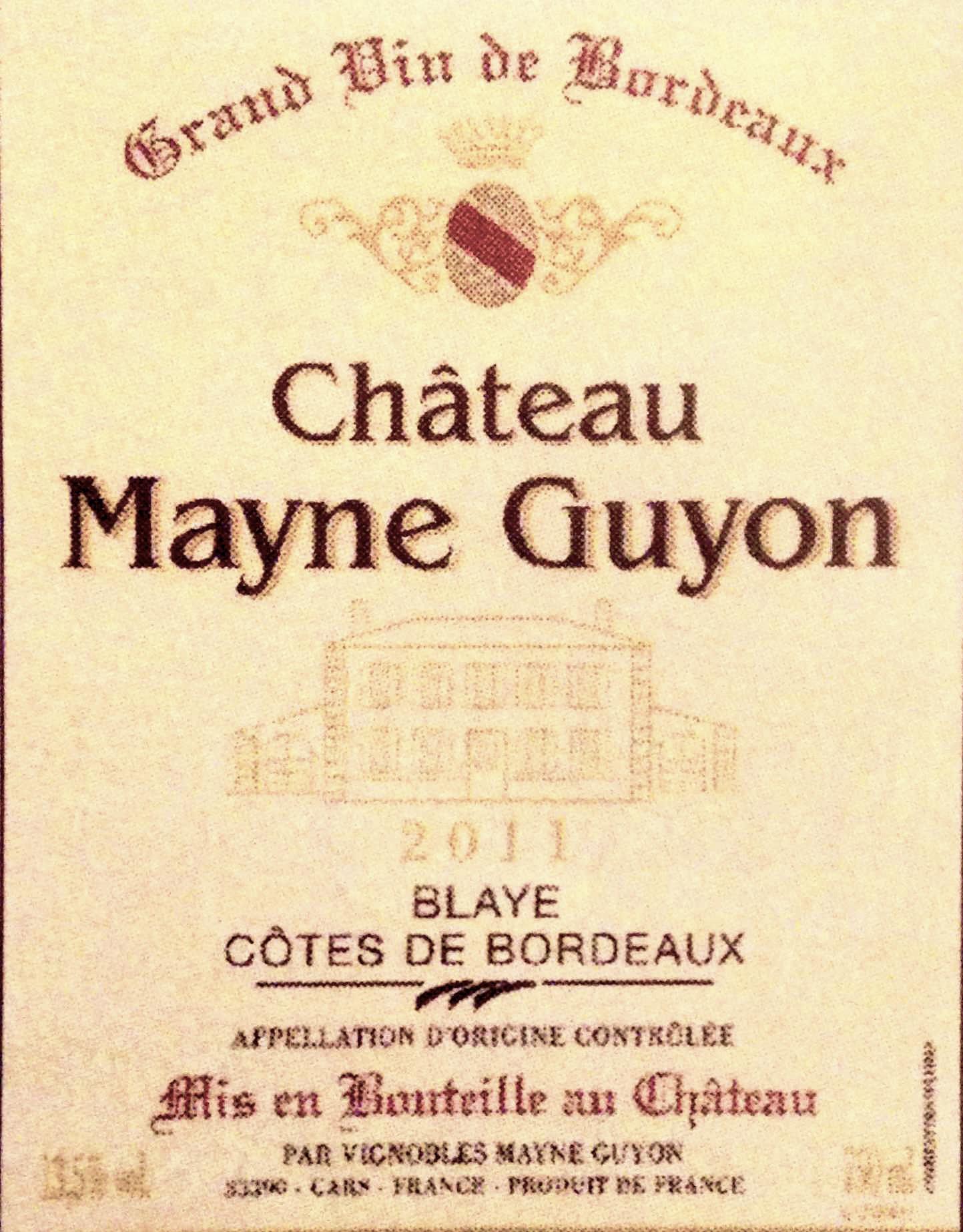 Chateau Mayne Guyon 2011, 1.jpg