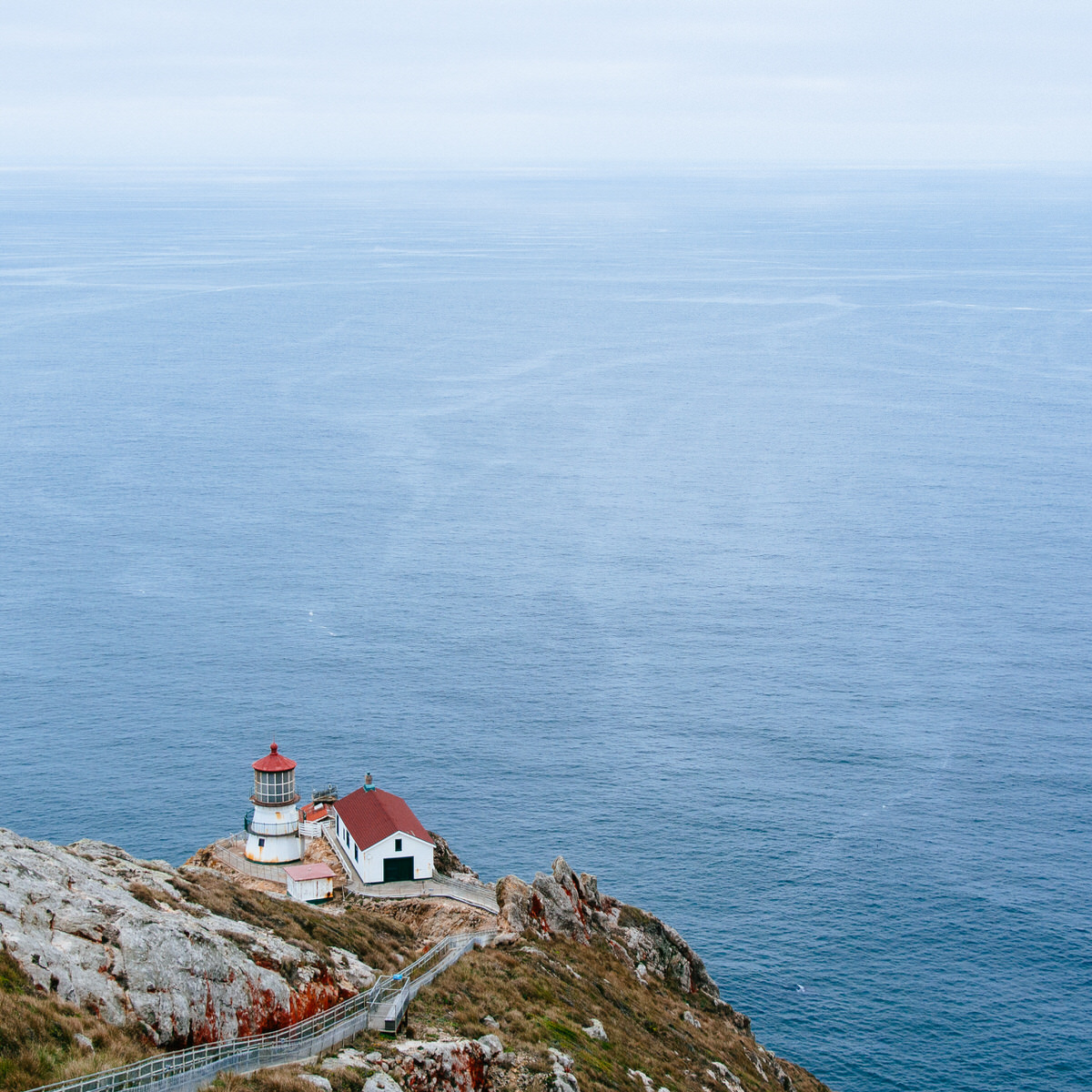Point Reyes Lighthouse in Point Reyes National Seashore - Marin County, California