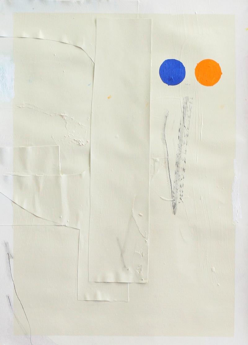 ED BATS - HAPPY CYCLES - Acrylique, crayon graphite, crayon gras sur collage papier - 69 x 50 cm- 2018.jpg