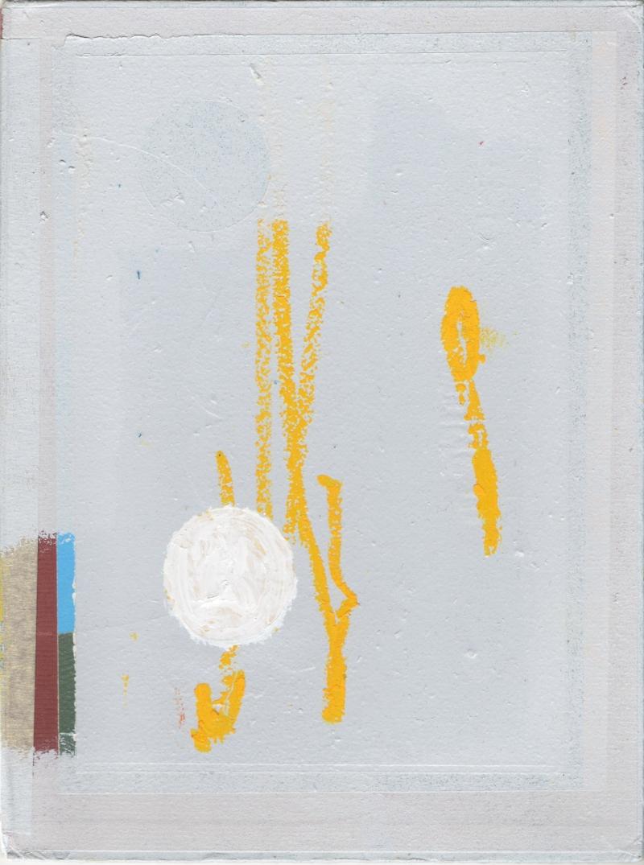 ED BATS - GET INNOCUOUS - Acrylique, enamel, crayon gras et papier collage sur matiére recyclée - 28x 21 cm - 2018.jpg
