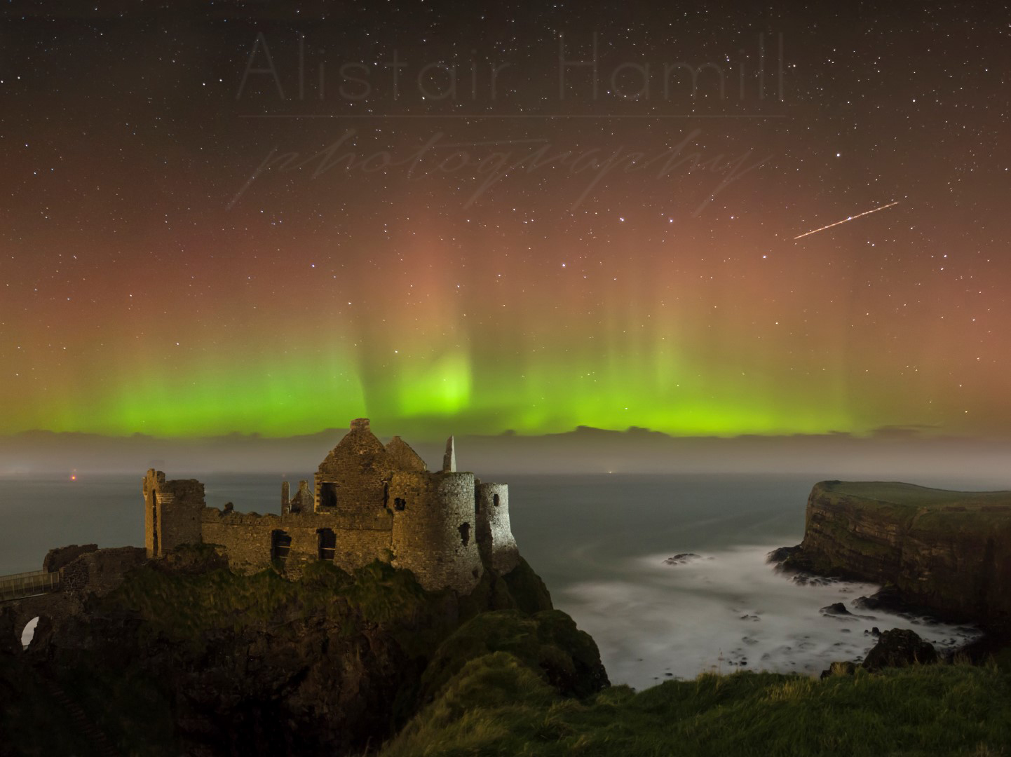 The 30 October norther lights at Dunluce Castle - my first aurora shot.