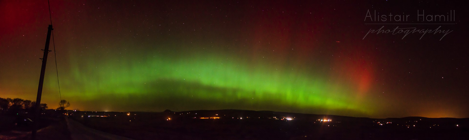 The most spectacular of auroral displays at the Colin Road, Ballyclare.