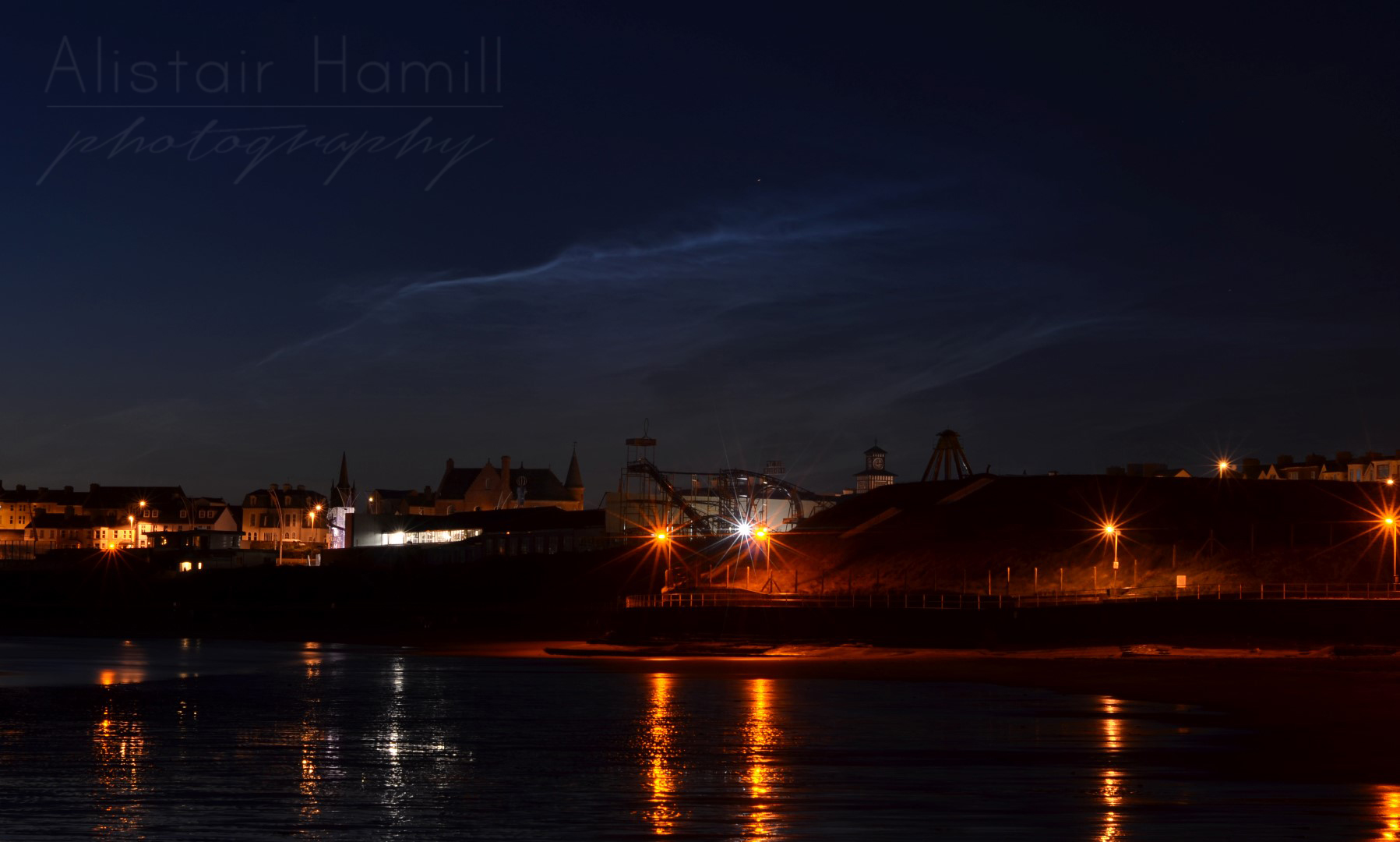 Noctiluence hanging over Barry's. For some reason it reminded me of a scene from Scooby Doo...