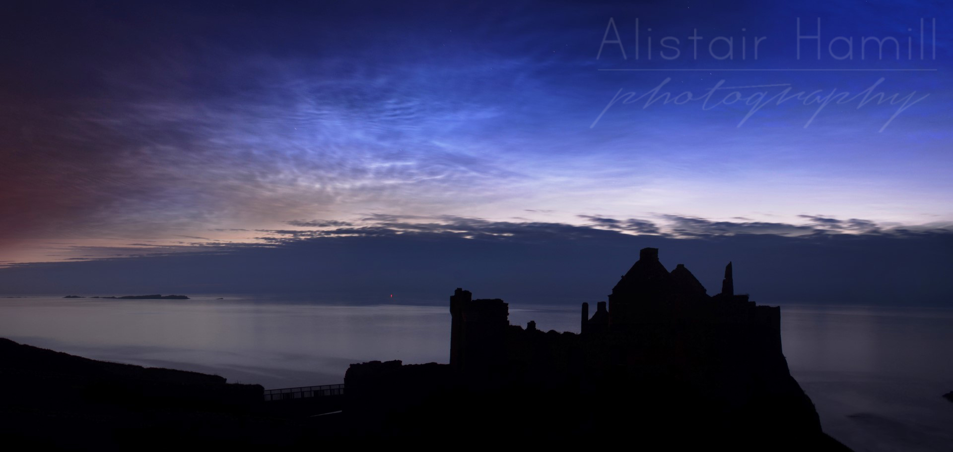 Another noctilucent display from last summer, this time as seen over Dunluce Castle