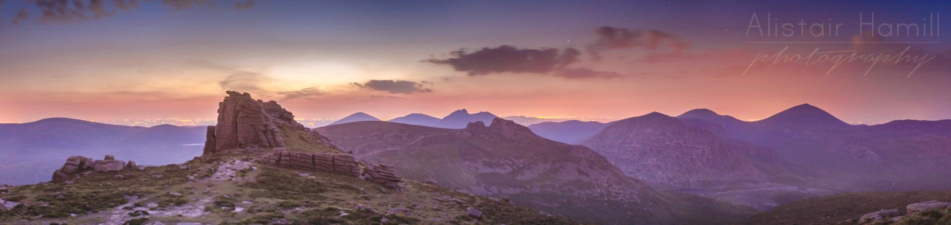 Summer twilight on Binnian
