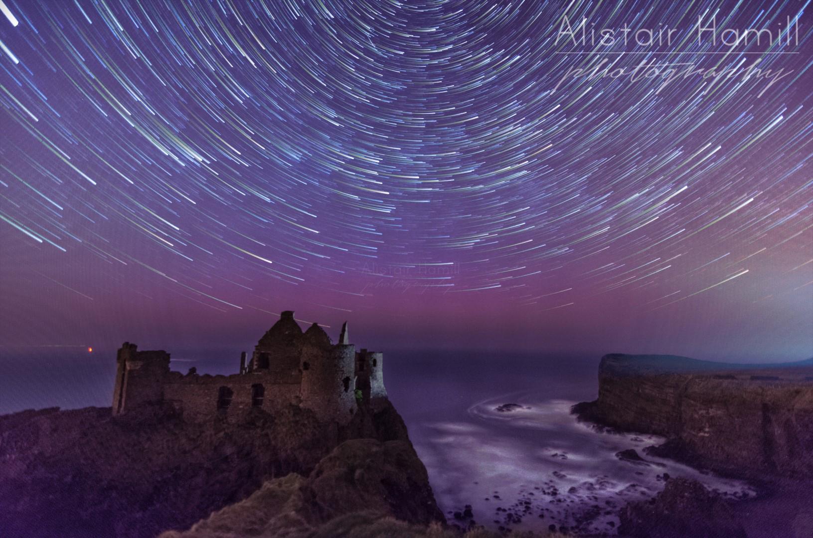 Dunluce April aurora star trails (Large) wm.jpg