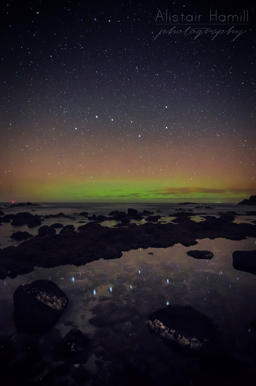 The Plough reflects in the rock pool. Click on this image to view it all in one screen.