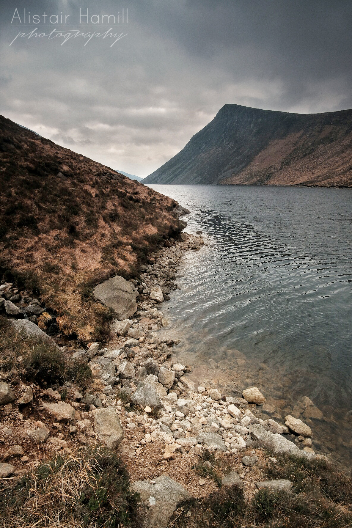 From the shores of Ben Crom Reservoir, looking towards Ben Crom mountain