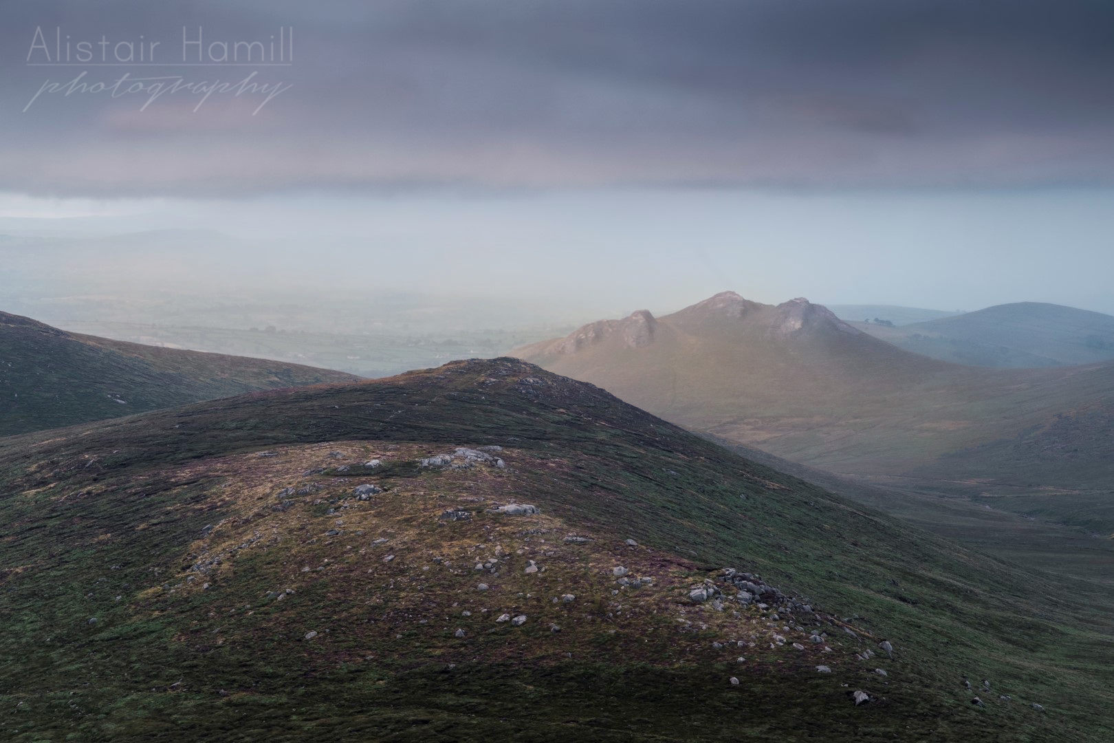 The summit tors of Hen, as seen from Pierces Castle