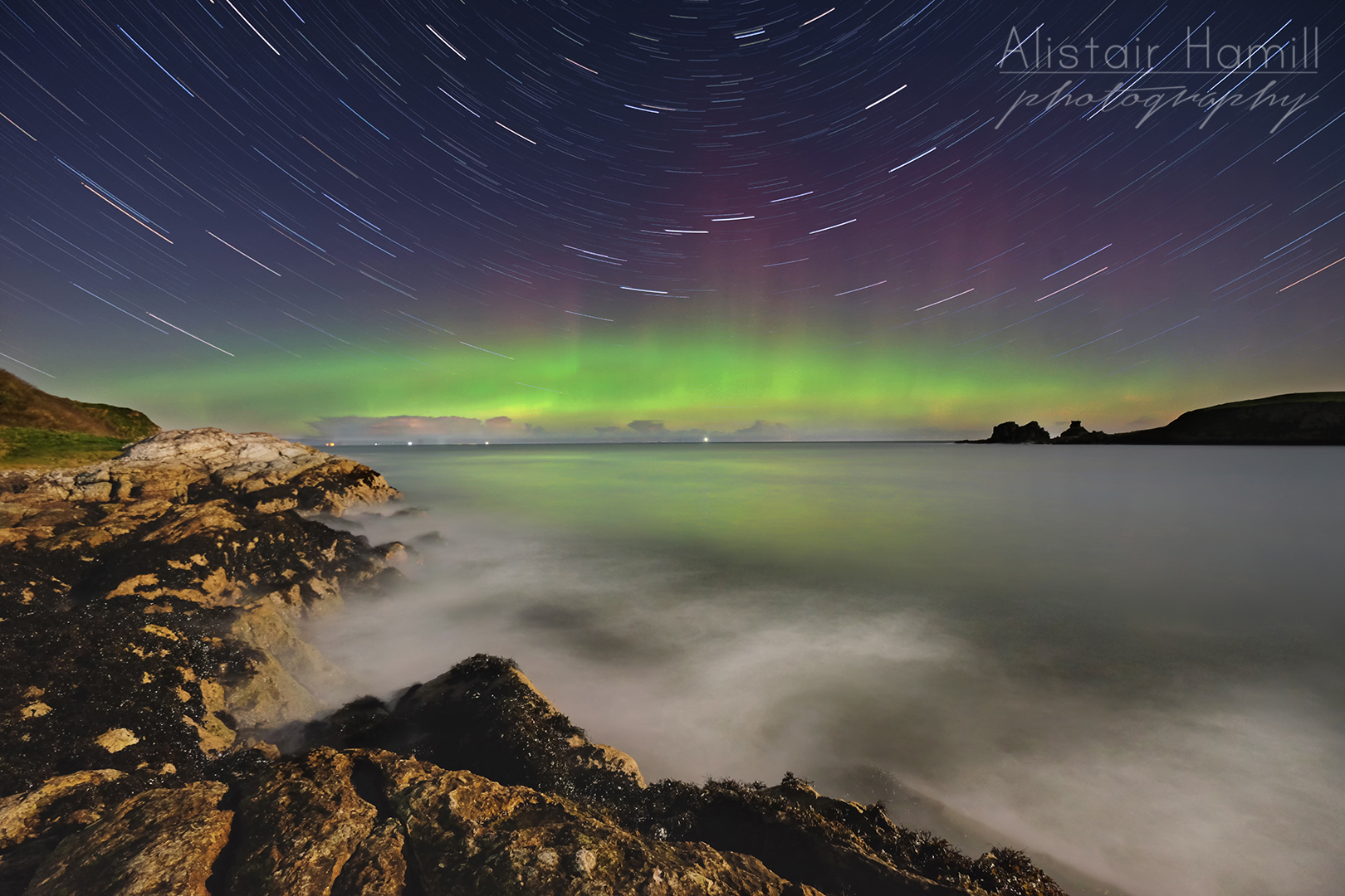 Portmuck aurora second star trails home edit (large) WM.jpg