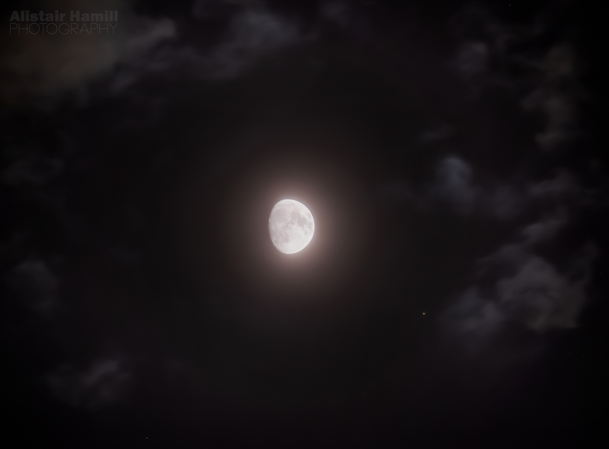 The Moon and Aldebaran in close conjunction last night.