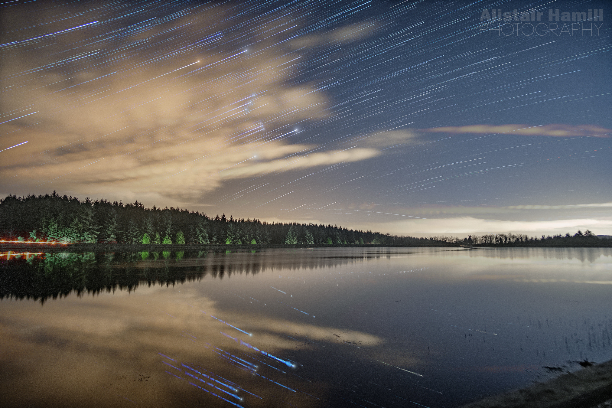 Orion star trails