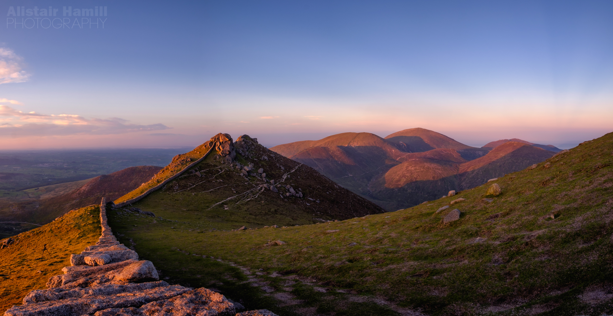 Bearnagh pano towards the heart of the Mournes.jpg