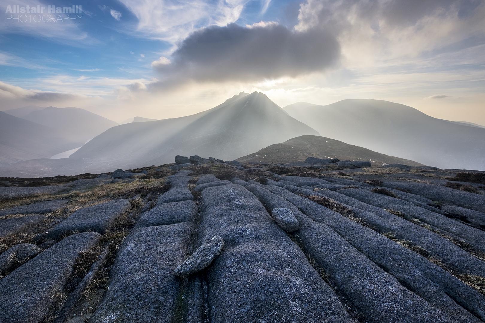 Bearnagh Crepuscular landscape 1 (large) WM.jpg