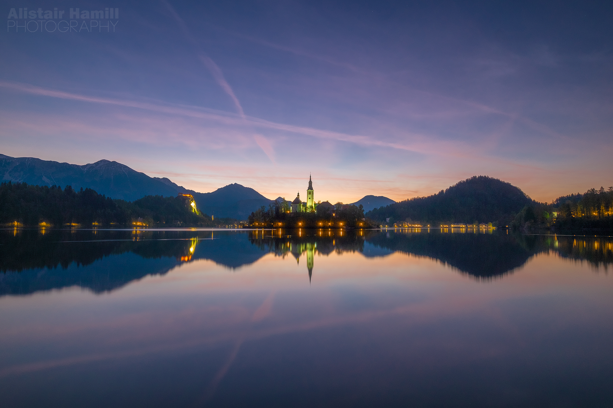 Lake Bled sunrise blue hour (large) WM.jpg