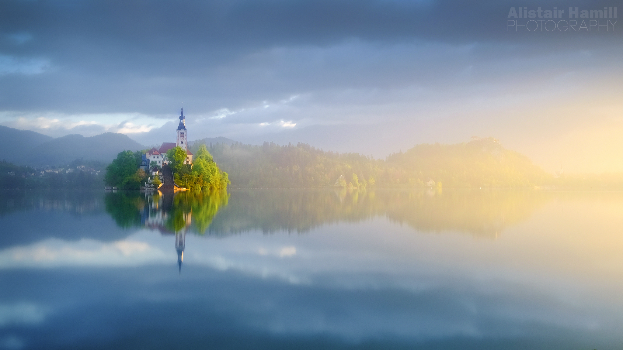 Lake Bled final morning light breakthrough (large) WM.jpg