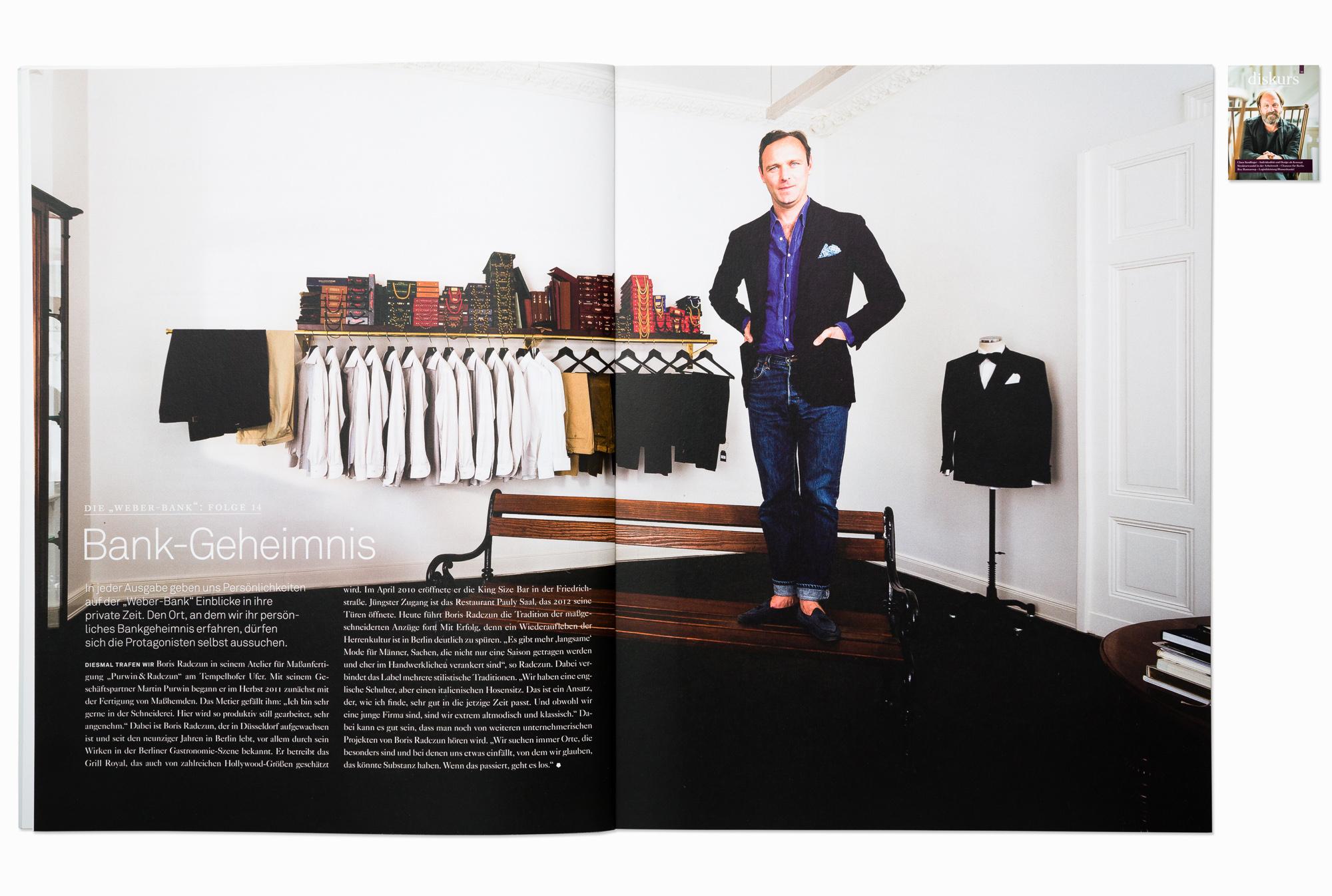 Entrepreneur Boris Radczun for Diskurs magazine, Berlin 2014