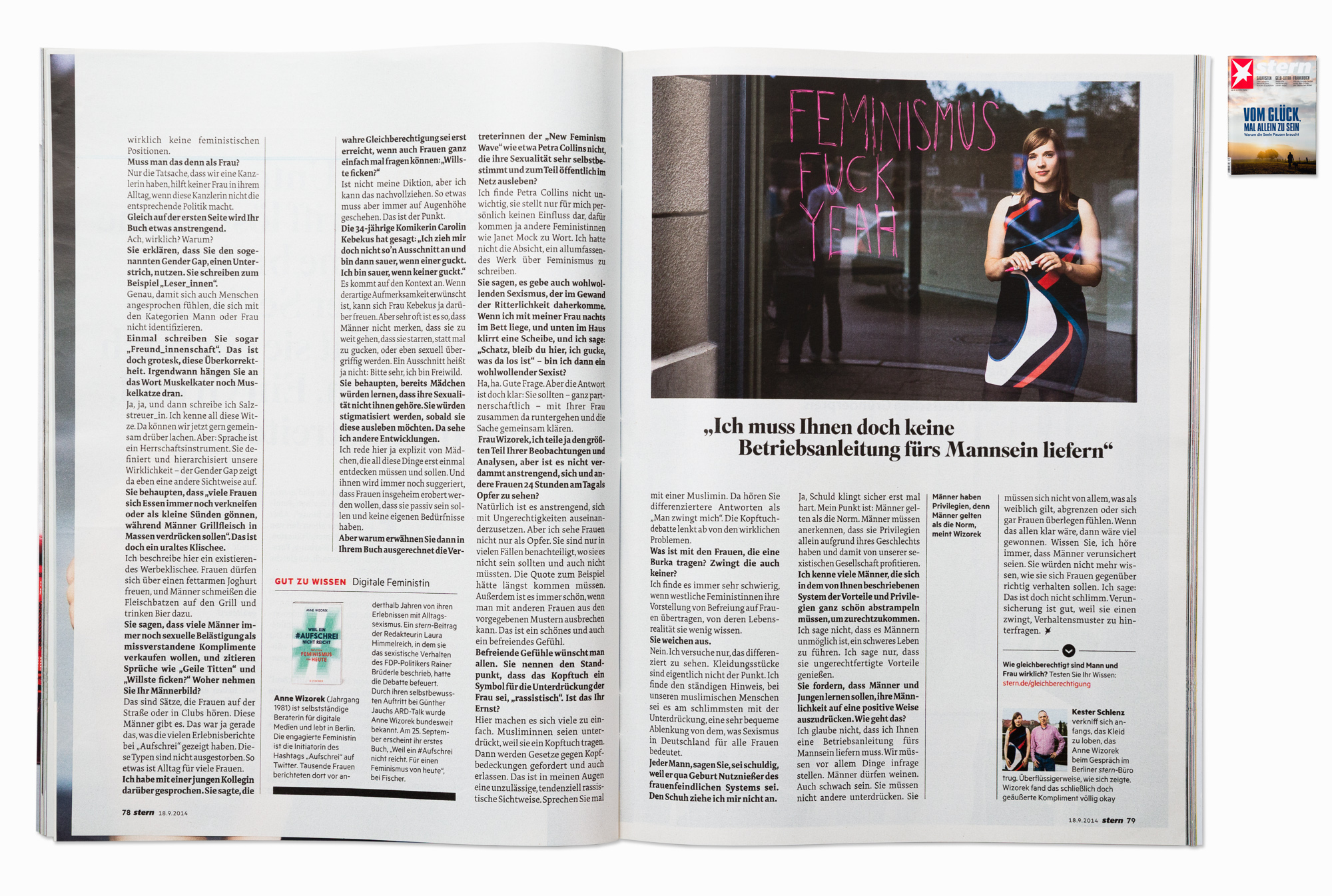 Author & feminist Anne Wizorek for STERN, Berlin 2014