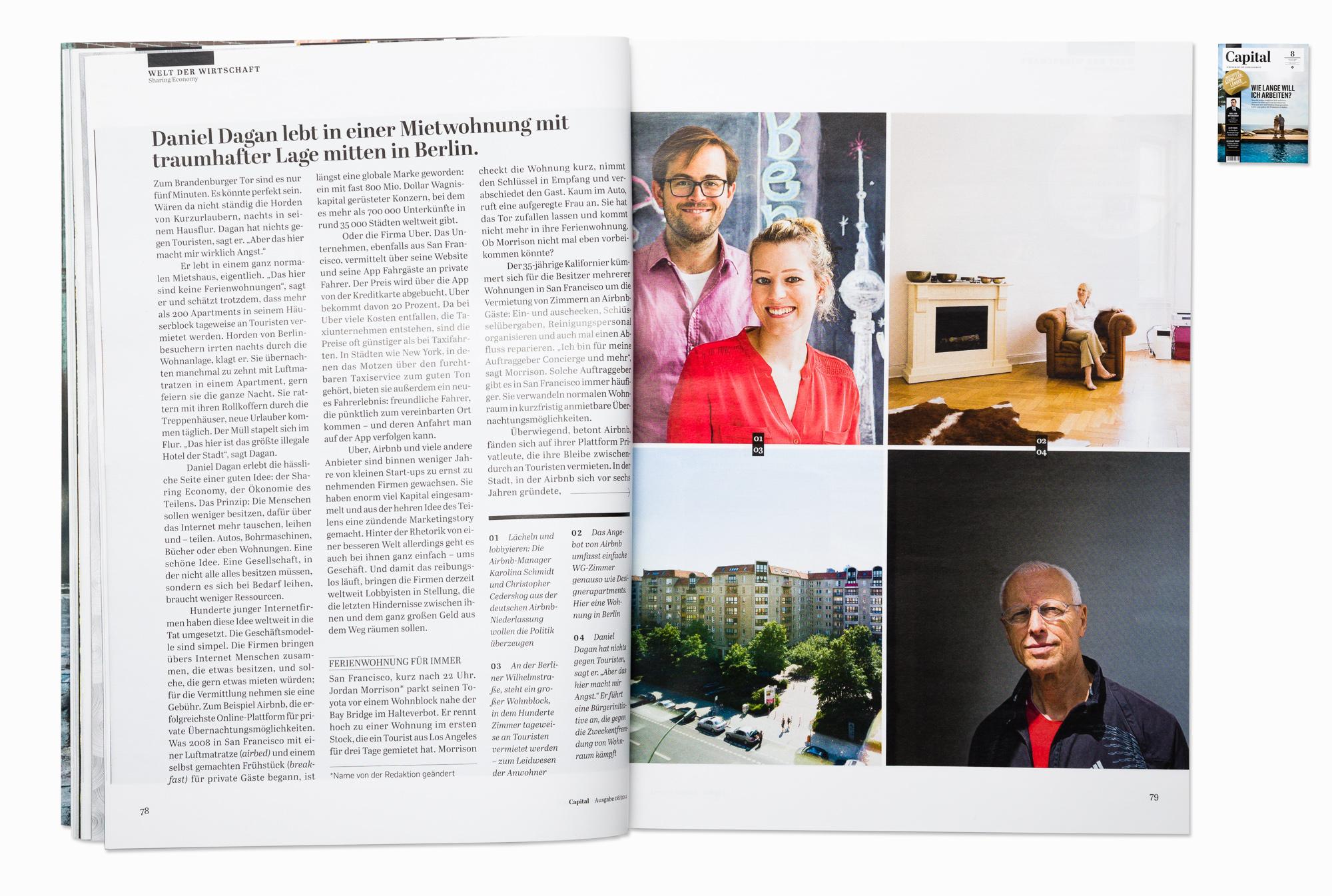 """Sharing economy"" story, for Capital magazine, Berlin 2014"