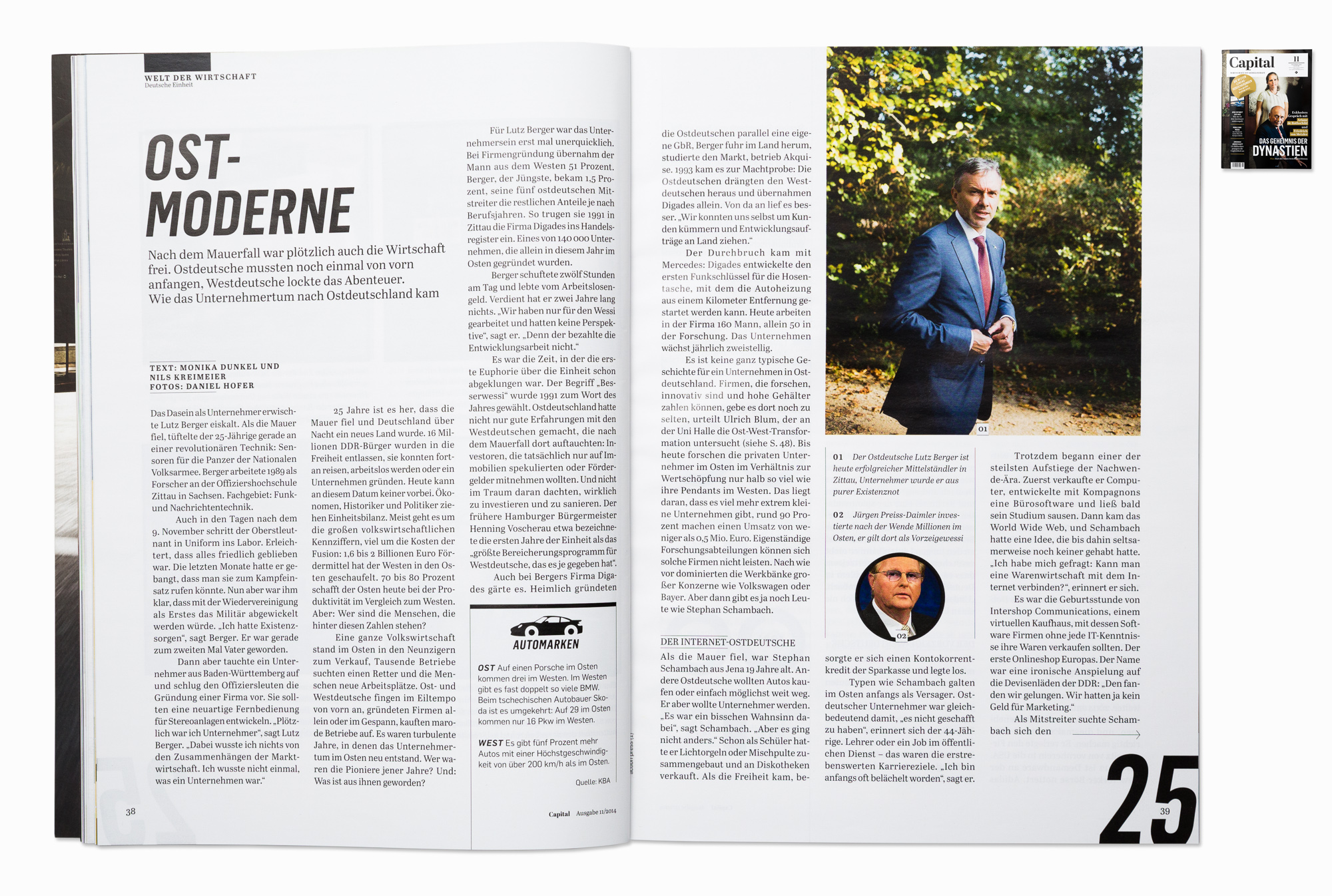 Lutz Berger, CEO of Digades, for Capital magazine, Dresden 2014