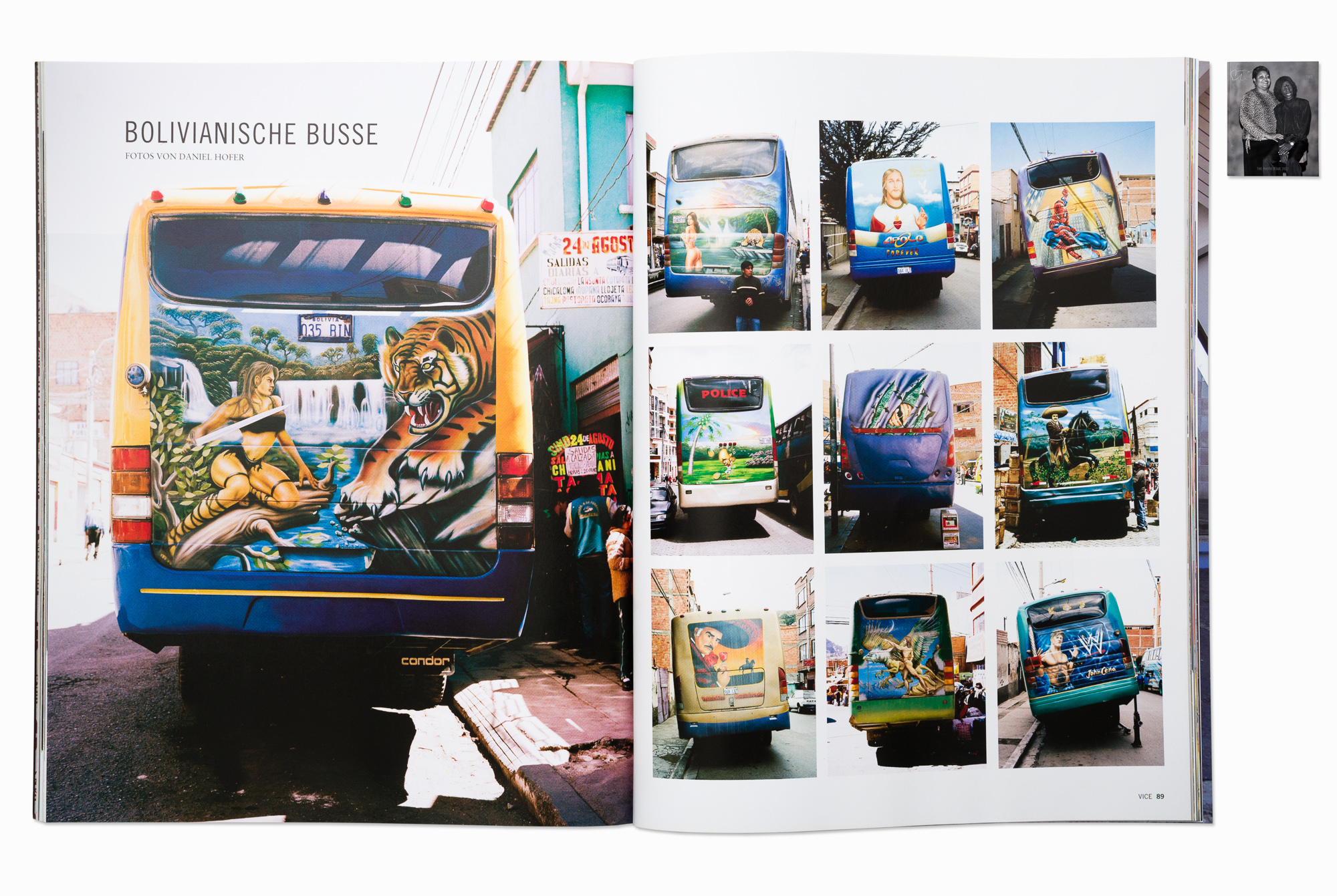 """""""Bolivian Busses"""", published in VICE magazin photo issue (Germany & UK)"""
