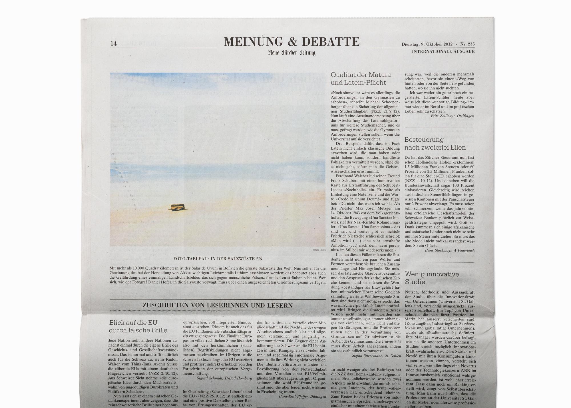 """From the series """"SALAR"""", published in NZZ Neue Zürcher Zeitung, 2012"""