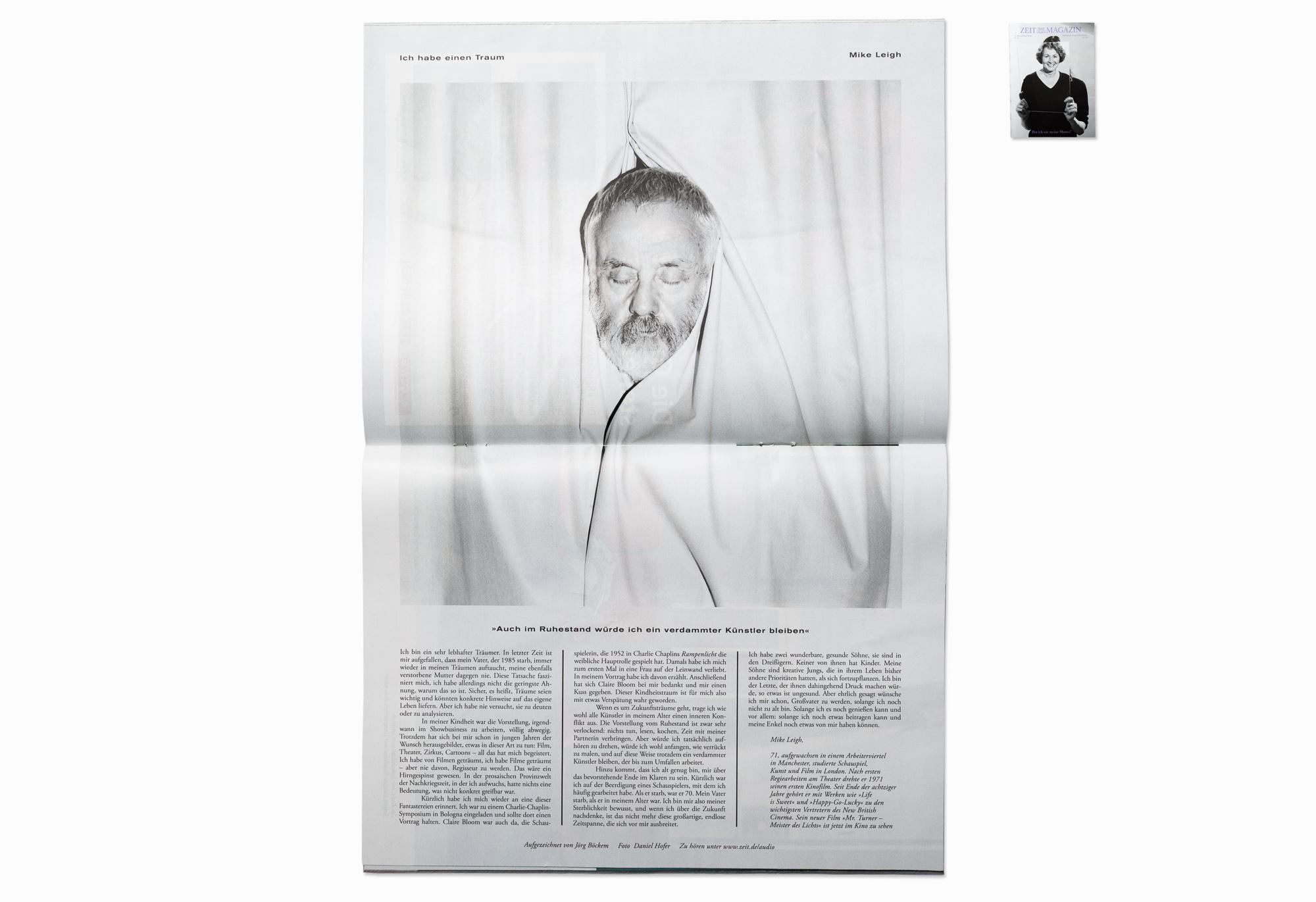 Director Mike Leigh for ZEIT Magazine, Berlin 2014