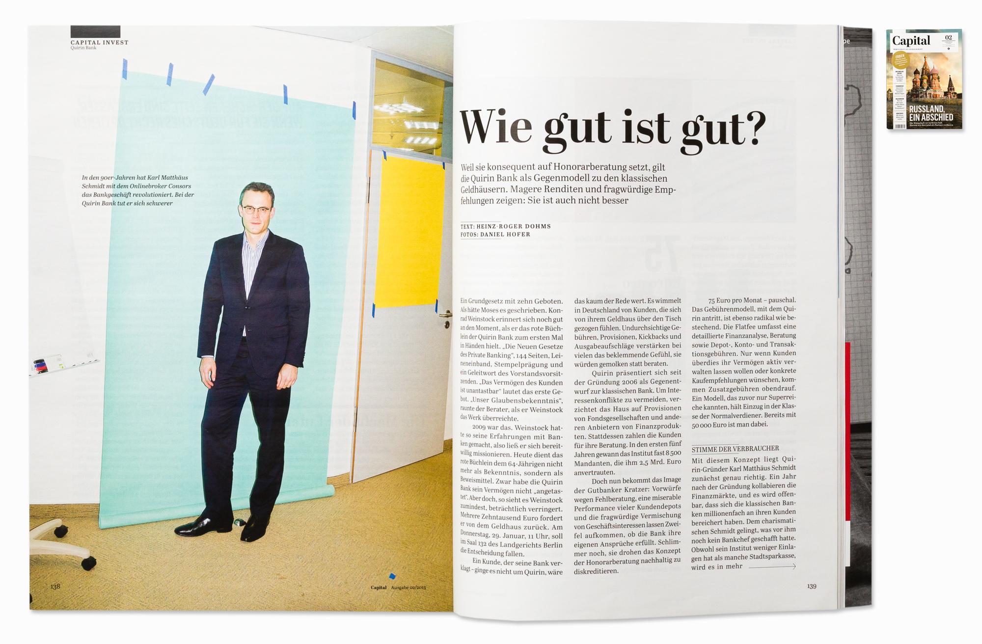 Karl Matthäus Schmidt, CEO of Quirin Bank for Capital, Berlin, 2015