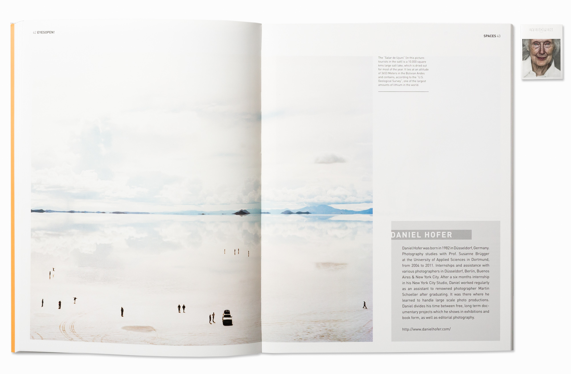 SALAR series published in Eyes Open magazine (Italy), 2014