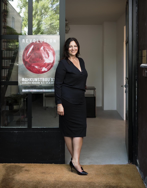 Anna Jill Lüpertz, gallery owner, for Diskurs magazine, Berlin 2014