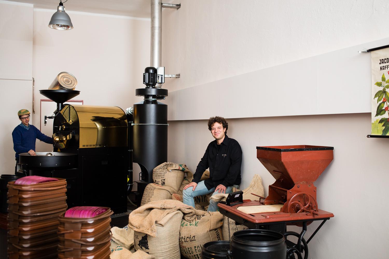 Coffeeentrepreneur Tamas Fejer for DB Mobil, September 2014 (outtake)