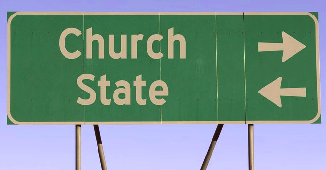 We have a confirmed sighting of an old-school (think liberal) church-state coalition