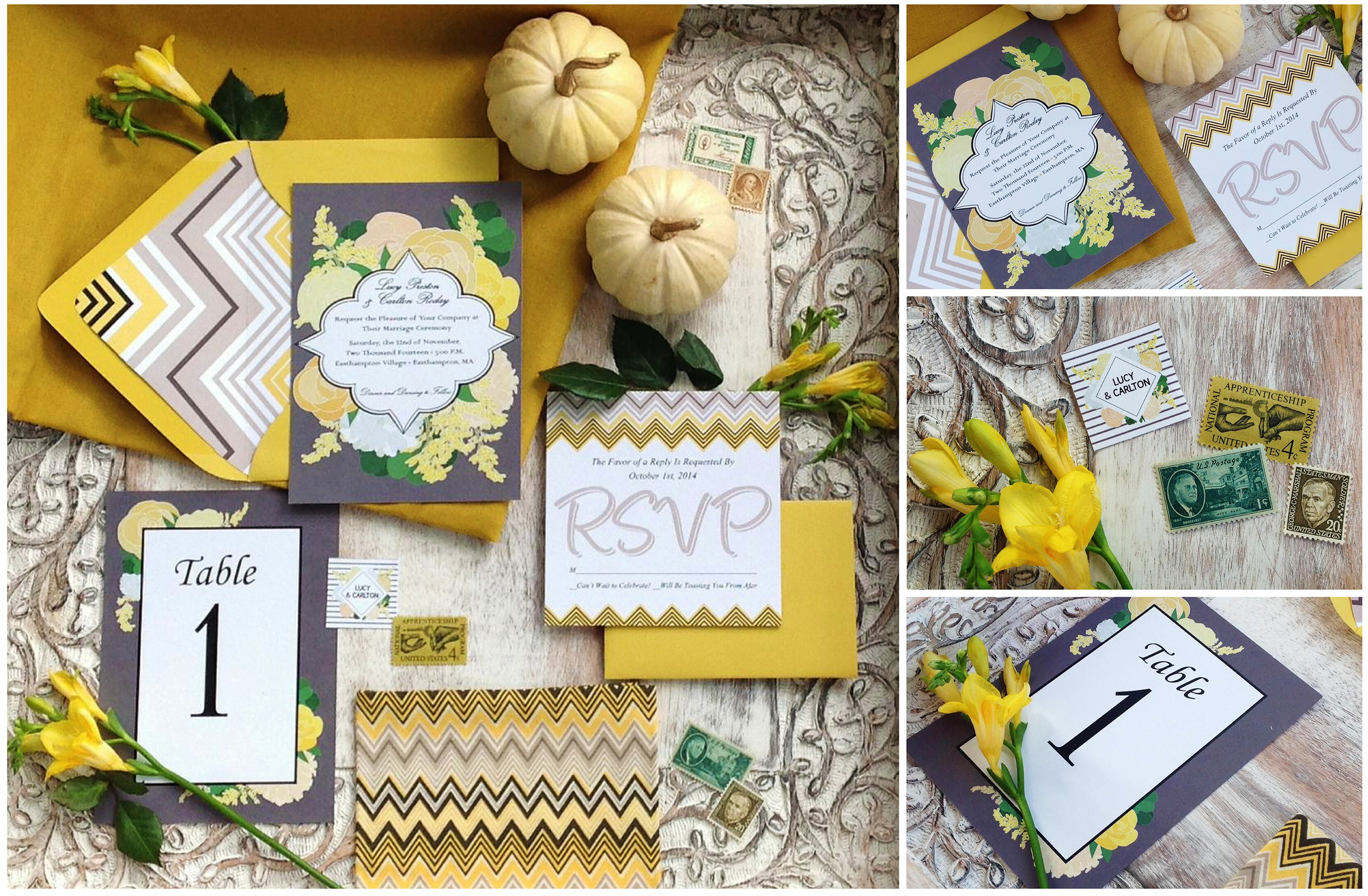 Parsimony Vintage- Event Planning-Mustard Wedding Inspiration invites.jpg
