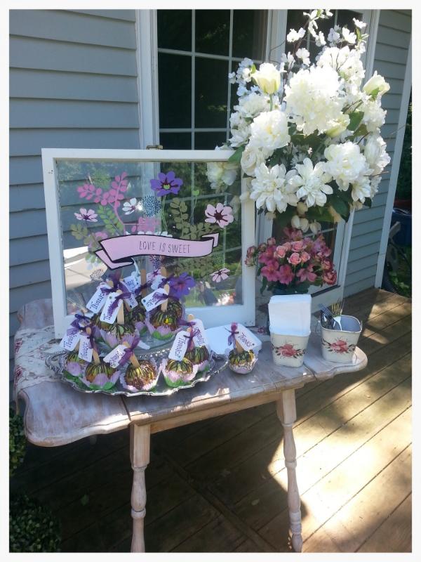 Parsimony Vintage- Event Planning-Custom Painted Window
