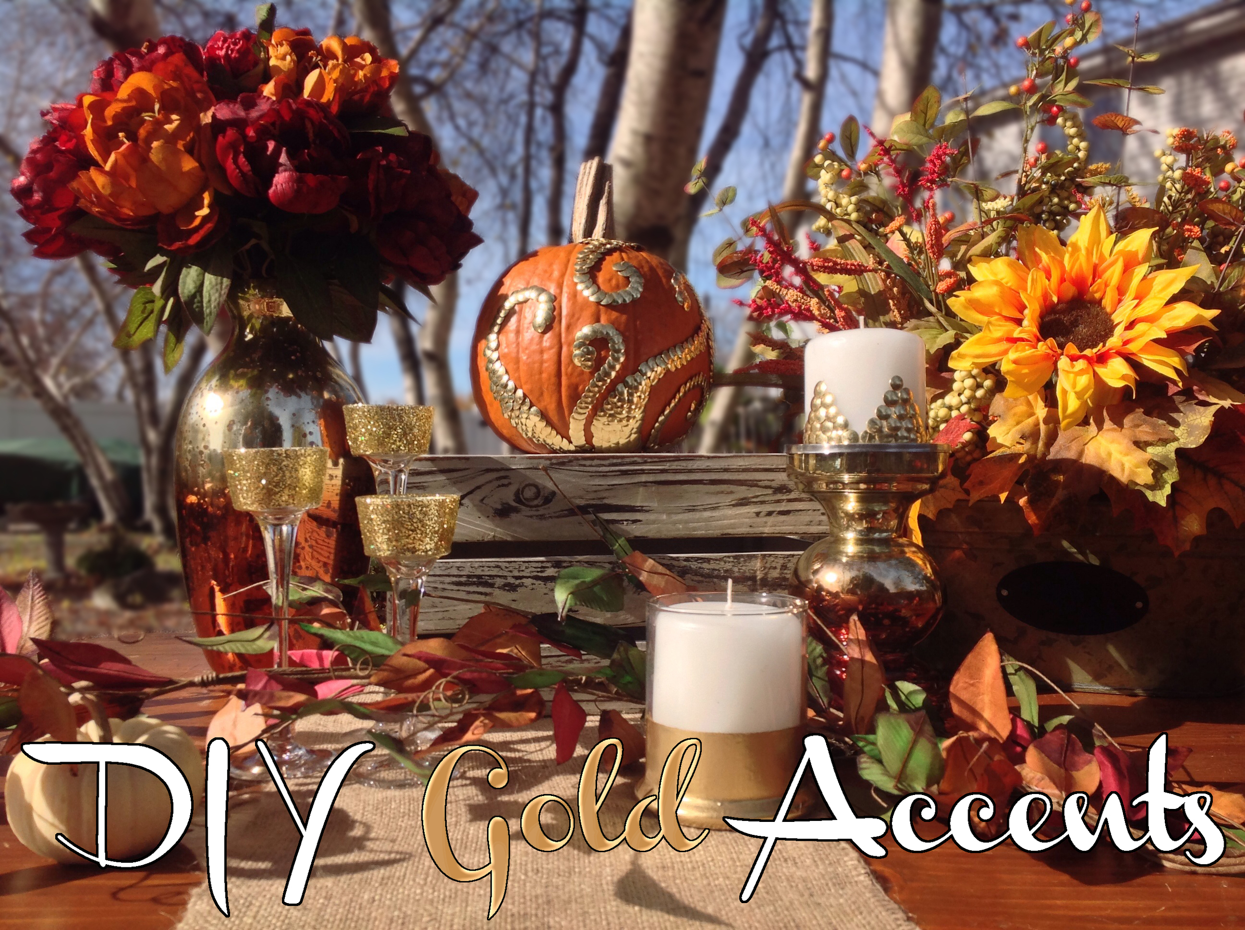 Parsimony Vintage- Event Planning-Gold Accents DIY