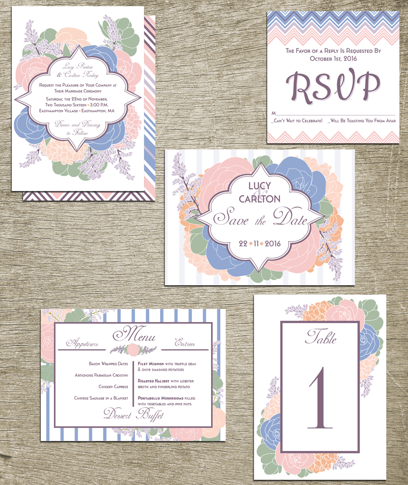 Color of the Year Invitation Set