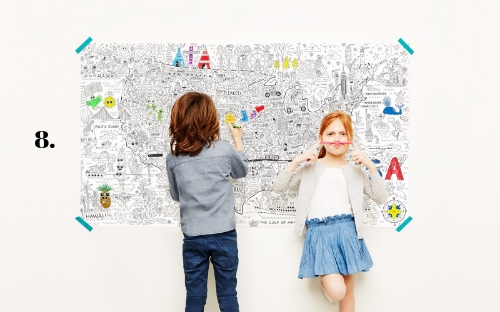 Wall Coloring Poster
