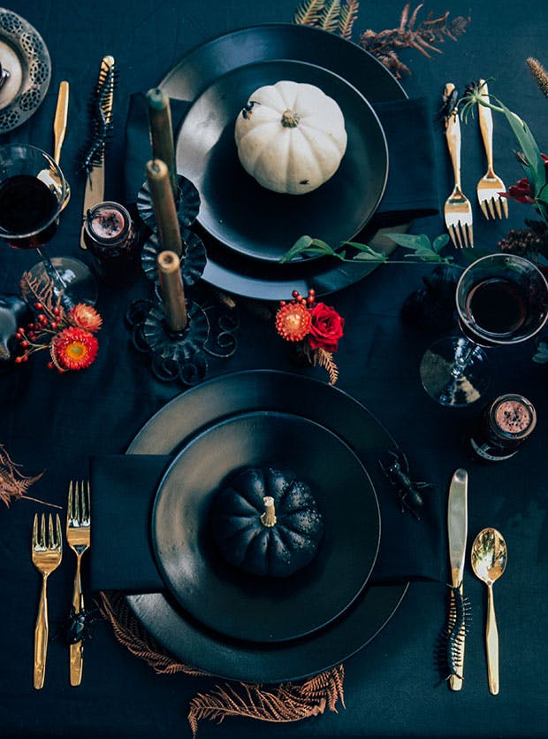 Dark and Moody Table Setting