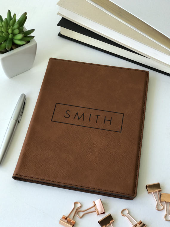 Leather Personalized Journal from Etsy