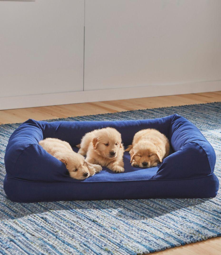 An LL Bean Dog Bed