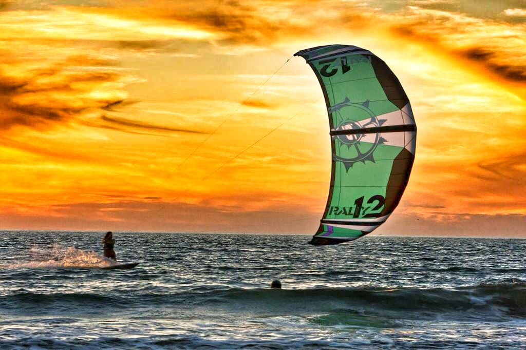 Sunset kite