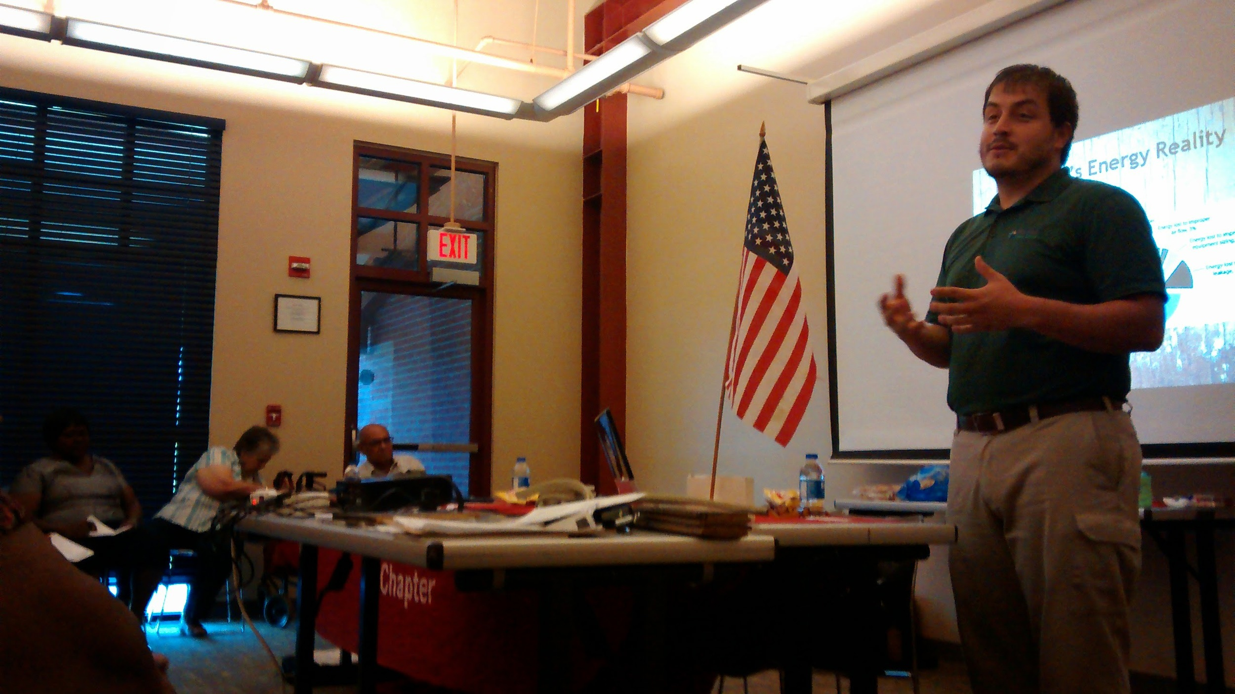 Adrian teaches AARP members in Reserve, Louisiana about reducing their energy bills.