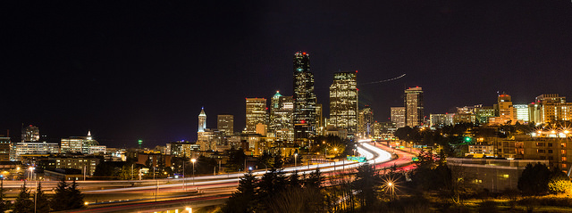 On of my favorite things to do now, long exposure panoramas. Needless to say, click on the photo for the full experience.
